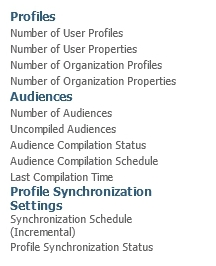 User Profile Synchronization Service will not Start Statistics not present
