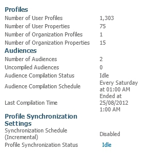 User Profile Synchronization Service will not Start Statistics Present