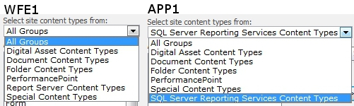 SQL 2012 Reporting Services Content Type Comparisons