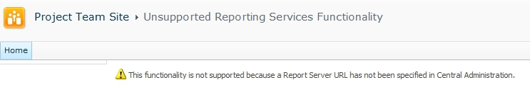 SQL 2012 Reporting Services Error